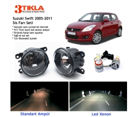 Suzuki Swift 2005-2011 Beyaz Led Xenon Sis Farı Seti
